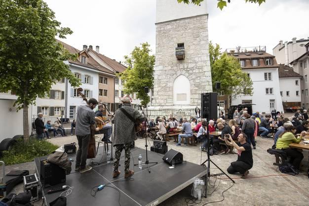 Die musikalische Unterhaltung kam von Les Singes – Gypsy Jazz Trio.