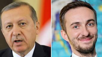 Der türkische Präsident Erdogan (l) und der deutsche Satiriker Böhmermann (Archiv)