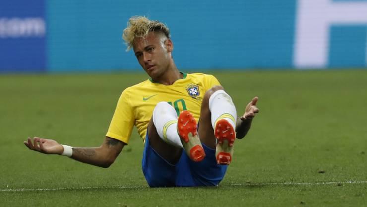 Haderte nach dem Spiel gegen die Schweiz mit dem Schiedsrichter: Brasiliens Superstar Neymar