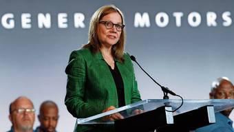 General-Motors-Konzernchefin Mary Barra an einer Veranstaltung in Detroit. Auch sie hat die Stellungnahme unterzeichnet.