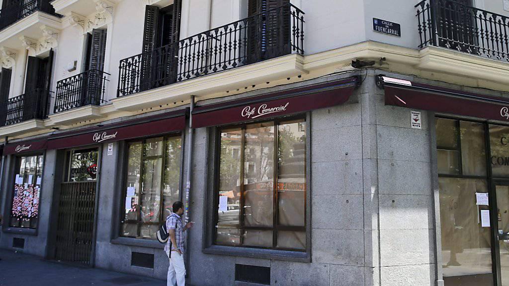 Plötzlich geschlossen: Das Café Comercial, das älteste Strassencafé von Madrid.