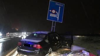 Selbstunfall im Schnee in Lenzburg