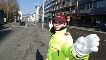 Verkehrslotsen im Dienst in Baden: Einsatzleiterin Yasmin Müller zieht Bilanz