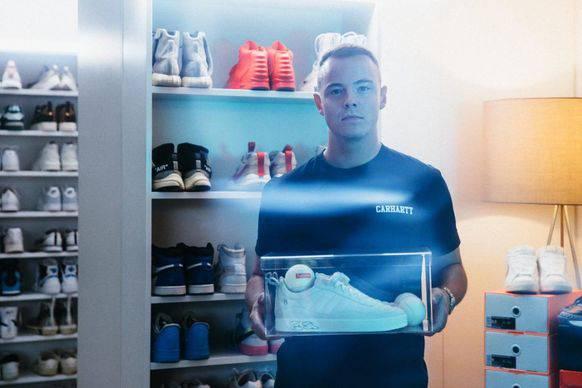 8000 Franken für einen Turnschuh: Aron Cash handelt mit Sneakers.