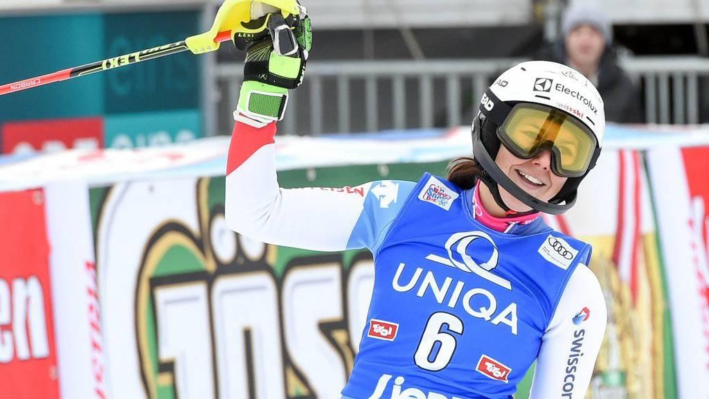 Wendy Holdener wurde am Donnerstag im Slalom in Lienz Zweite.
