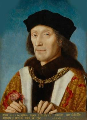 Heinrich VII. Tudor, König von England. Gemälde von Michael Sittow.