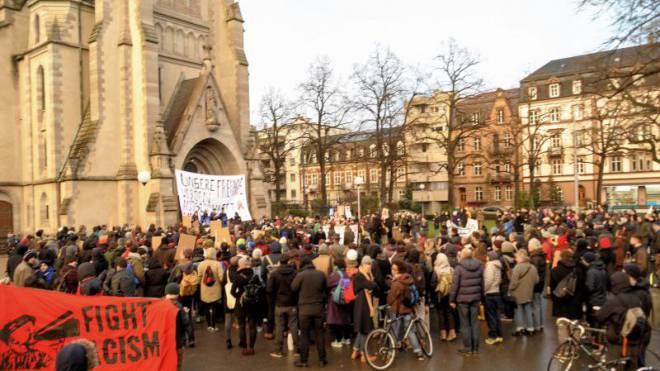 Gestern fand eine zweite Demonstration statt. Foto: Nicole Nars-Zimmer
