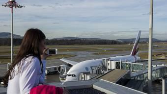 Die Fluggesellschaft «Emirates» bedient die Strecke Zürich-Dubai seit Anfang 2014 mit dem Airbus A380.
