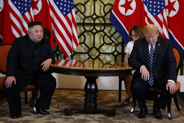 Kim Jong Un mit Donald Trump letzte Woche in Vietnam