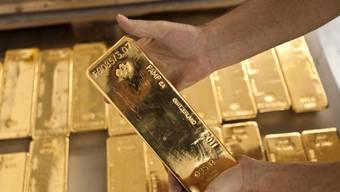 Im Goldlager der Zürcher Kantonalbank (Archiv)