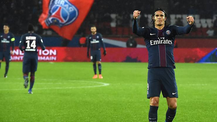 Kaum zu stoppen: Paris Saint-Germains Topskorer Edinson Cavani (Archivbild)