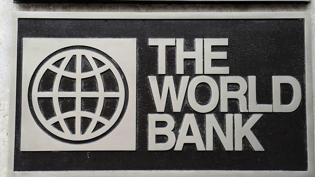 Das Logo der World Bank, aufgenommen am 01.11.2009 in Washington.