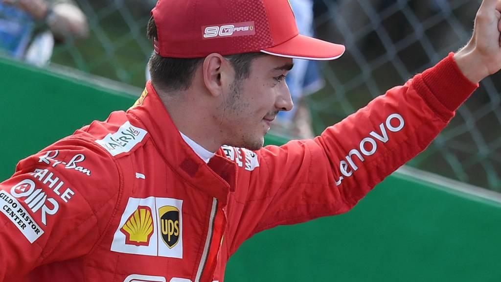 Charles Leclerc gewinnt als erster Ferrari-Fahrer seit neun Jahren in Monza