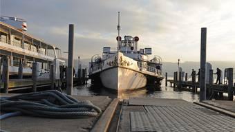 Keine Ausfahrt für die Stadt Zürich: Das Dampfschiff bleibt vorerst in der Werft.