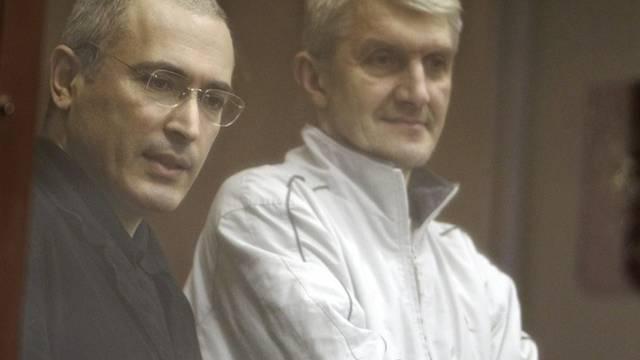 Chodorkowski (l.) und Lebedew (r.)