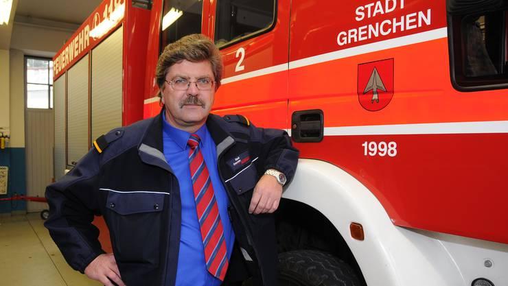 Bruno Bider wurde Feuerwehrkommandant in Grenchen freigestellt. (Archiv)