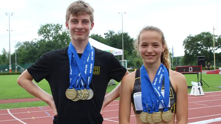 Die Mehrfachmedaillengewinner Andri Anex (links) und Eve Attenhofer (rechts)