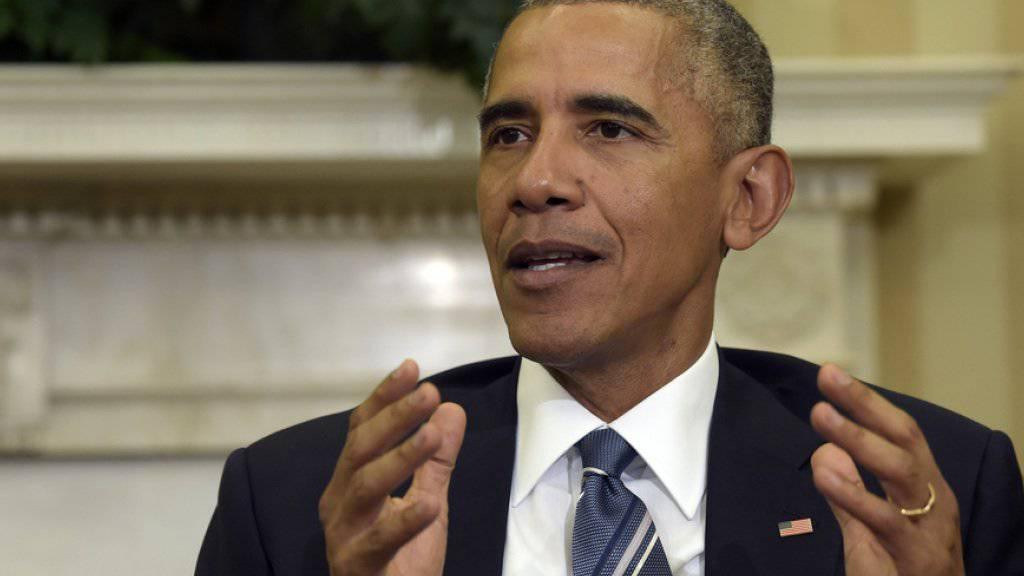 """""""Die einzige mit einer noch mächtigeren Position war meine Ehefrau"""": Barack Obama. (Archivbild)"""