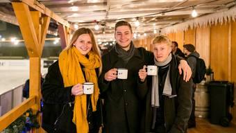 Sind mit ihrem Start-up erfolgreich unterwegs (v. l.): Vivienne Widmer, Mirko Hess und Aurel Hess. (Bild: Windisch, 22.11.2018)