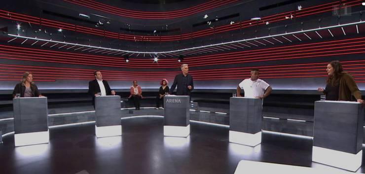 «Jetzt reden die Schwarzen»: So sah das in der «Arena» aus.