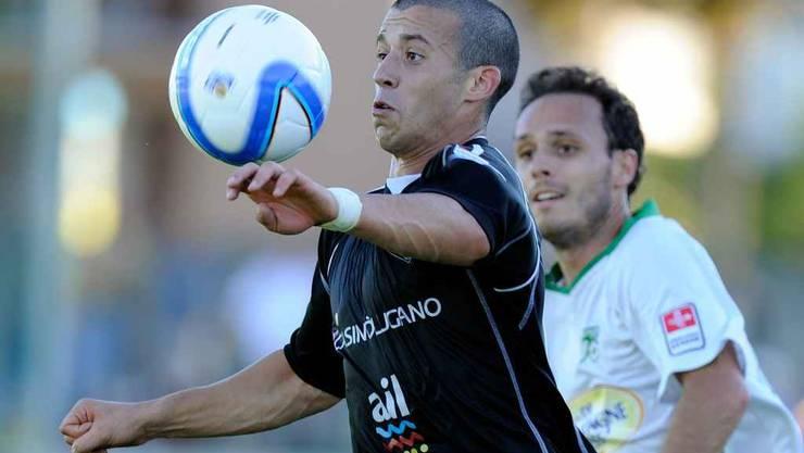 Felipe Martins, hier noch im Dress der Luganesi, spielte trainingshalber schon mal für Wohlen