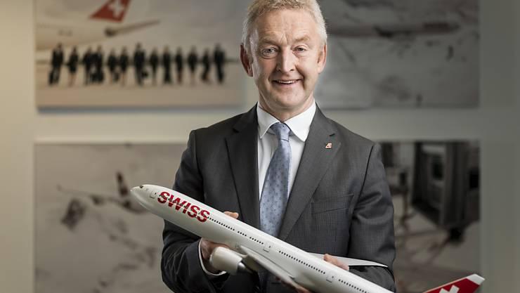 Mit 35 Langstreckenflugzeugen sieht Swiss-CEO Thomas Klühr die Grenzen des Wachstums für die Schweizer Airline erreicht. (Archiv)