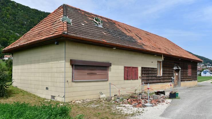 Das alte Schützenhaus in Egerkingen an der Kantonsstrasse zwischen Egerkingen und Oberbuchsiten befindet sich seit längerer Zeit in desolatem Zustand.