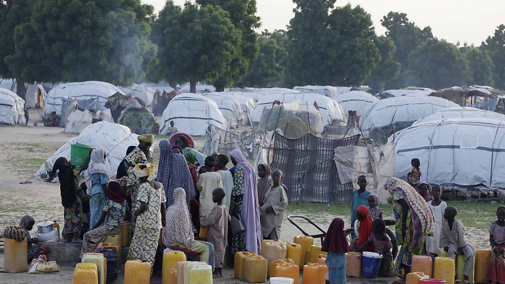 Flüchtlingslager in Maiduguri: Die UNO warnt vor einer Hungerkatastrophe in Nigeria. (Archivbild)