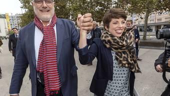 Die Grüne Lisa Mazzone und der Sozialdemokrat Carlo Sommaruga gewinnen die Ständeratswahlen im Kanton Genf.