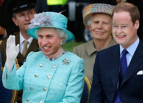 Die Queen und Prinz William