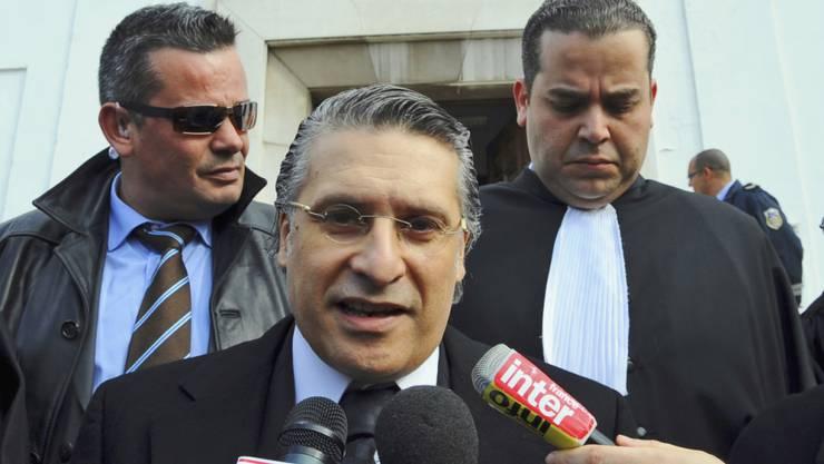 Wurde festgenommen: der bislang aussichtsreiche tunesische Präsidentschaftsanwärter Nabil Karoui. (Archivbild)