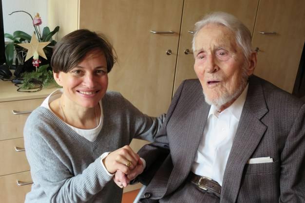 Julia Nehmiz mit Wilfried de Beauclair.