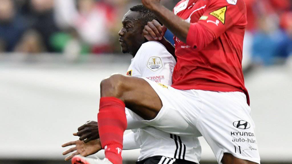 Traf in Wohlen doppelt: Winterthurs Brasilianer Silvio (in rot)