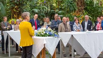 Was Rang und Namen hat, trifft sich im «Giardino Verde»: So auch die Limmattaler Stadt- und Gemeinderäte im Juni 2018 mit Regierungsrätin Jacqueline Fehr.