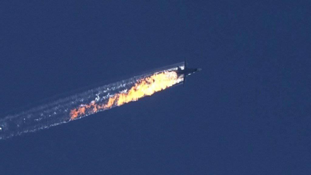 Abgeschossener Kampfjet in Syrien im November 2015. (Archiv)