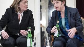 Die CVP-Bundesratskandidatinnen Heidi Z'graggen (links) und Viola Amherd (rechts) haben unterschiedliche Ansichten bei der Ausländerpolitik. (Archivbild)