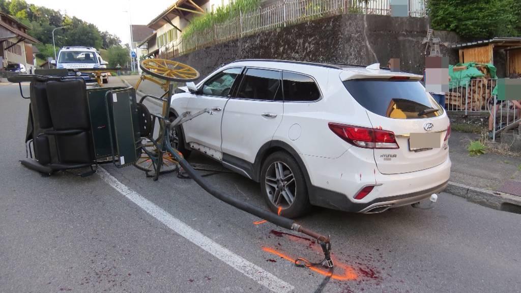 Kutscher und Pferde nach Kollision mit Auto in Böttstein verletzt