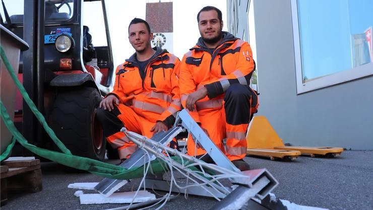 Das Siegerteam: Janik Leuenberger und Sven Schneider.