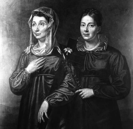 Baronin Juliane von Krüdener mit ihrer Tochter.