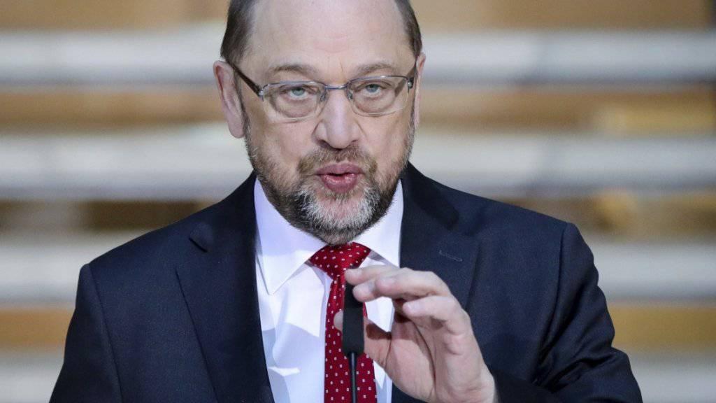 Glaubt, dass die Koalitionsverhandlungen am Dienstag abgeschlossen werden können: SPD-Chef Martin Schulz. (Archiv)