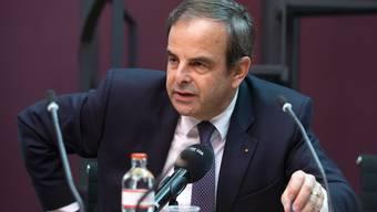 Könnte aus CVP und BDP eine Partei werden? CVP-Chef Gerhard Pfister an einer Medienkonferenz.
