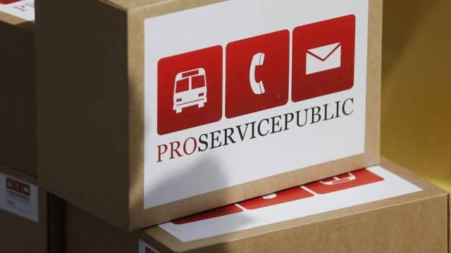 "Pakete der Initiative ""Pro Service Public""  (Archiv)"
