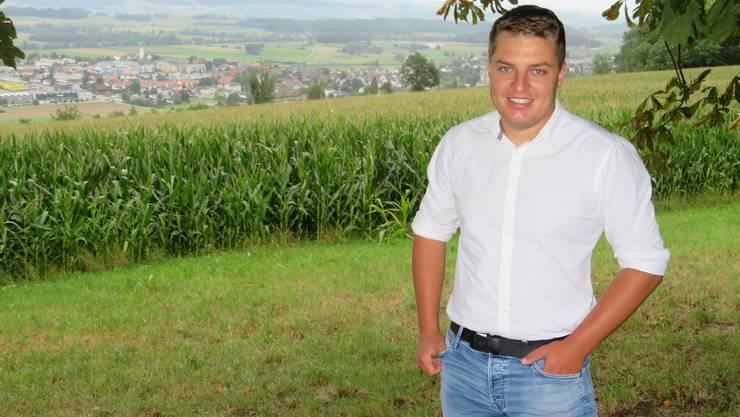 Alain Bütler, Grossratskandidat SVP Bezirk Muri in Kallern.