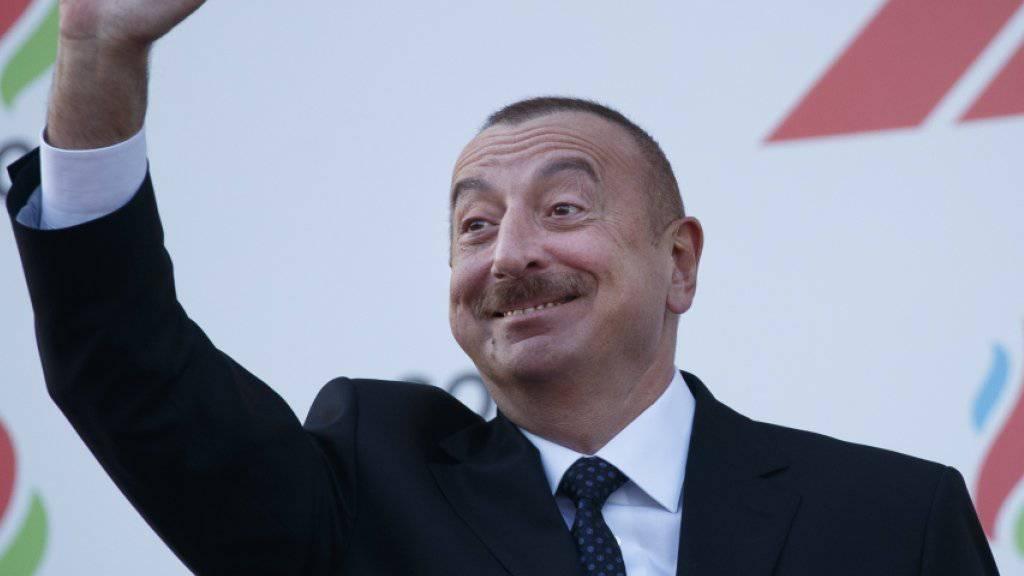 Regiert sein Land autokratisch und mit harter Hand: Aserbaidschans Präsident Ilham Alijew