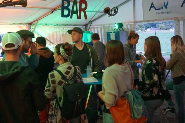 Die Bar beim Openair am Grüene war ein beliebter Treffpunkt.
