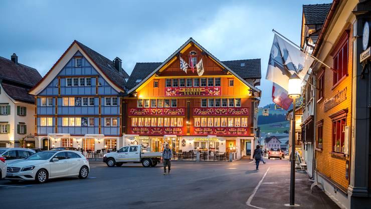 Der Landsgemeindeplatz in Appenzell, wo am letzten Sonntag im April jährlich die Landsgemeinde stattfindet.