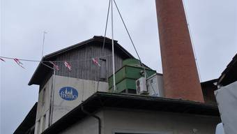 Noch steht das Baugespann auf dem Dach der Freiämter Mosterei (Fremo), die Baubewilligung für den Büroneubau ist allerdings schon erteilt. Eddy Schambron