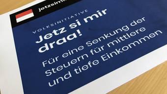Die Volksinitiative «Jetz si mir draa!» verlangt ab dem Jahr 2023 eine Steuerbelastung der Einkommen, die maximal 20Prozent über dem Schweizer Durchschnitt liegt.  © Solothurner Zeitung