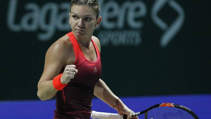 Die Rumänin Simona Halep (WTA 2) gewinnt zum Auftakt des WTA-Masters in Singapur gegen die Italienerin Flavia Pennetta (WTA 8) locker in zwei Sätzen