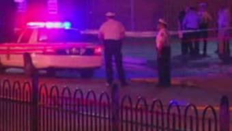 Polizisten sichern den Ort in Columbus ab, an dem ein 13-jähriger Knabe von der Polizei erschossen wurde.